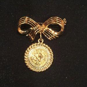 St John Bow coin brooch